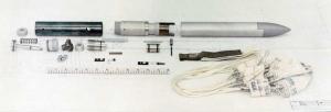 Parachute Release Mechanism, Popup Underwater Vehicle. Awarded patent 3,439,537, April 22, 1969 to Vlash Alex Pullos.